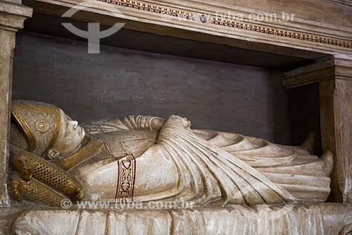 Representação do túmulo do Cardeal Albornoz na Sacristia Norte do Palais des Papes (Palácio dos Papas) - 1345  - Avignon - Departamento de Vaucluse - França