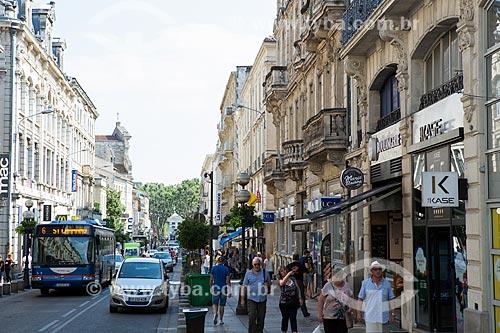 Comércio da Rua da Republique  - Avignon - Departamento de Vaucluse - França