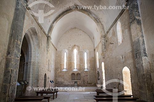 Interior da Abadia de Saint-Hilaire (século VIII)  - Gordes - Departamento de Vaucluse - França