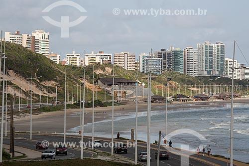 Avenida Litorânea com a Praia do Calhau ao fundo  - São Luís - Maranhão (MA) - Brasil