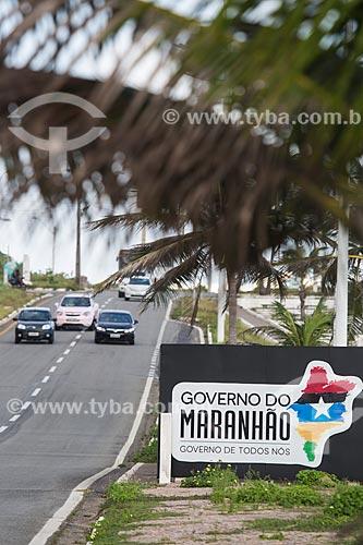 Placa na Avenida Litorânea  - São Luís - Maranhão (MA) - Brasil
