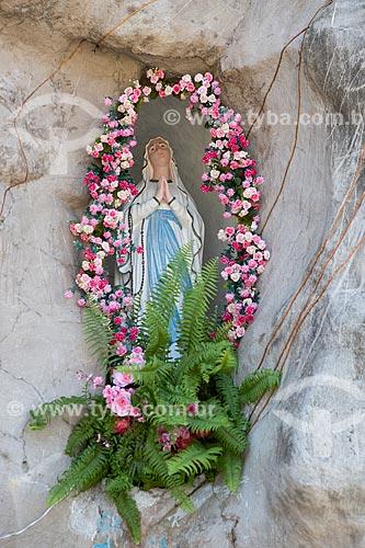 Detalhe da Gruta de Nossa Senhora de Lourdes  - São José de Ribamar - Maranhão (MA) - Brasil
