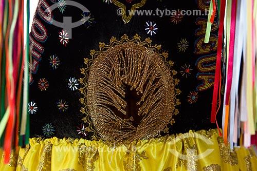 Detalhe de fantasia do Bumba meu boi em exibição na Casa do Maranhão  - São Luís - Maranhão (MA) - Brasil