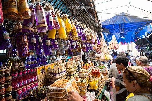 Garrafadas à venda no Mercado Central de São Luís  - São Luís - Maranhão (MA) - Brasil