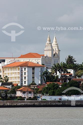 Vista do Grand São Luis Hotel com a Catedral da Sé (Catedral de Nossa Senhora da Vitória) - ao fundo  - São Luís - Maranhão (MA) - Brasil