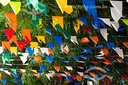 Detalhe de decoração de festa junina  - São Luís - Maranhão (MA) - Brasil