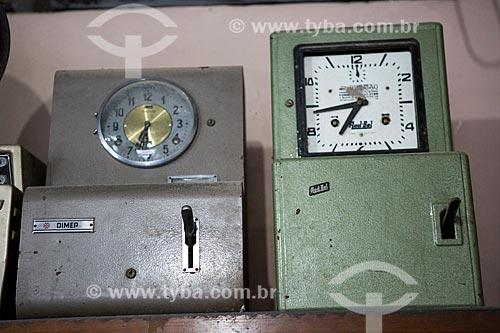 Relógios de ponto na Colônia Italiana do Mergulhão  - São José dos Pinhais - Paraná (PR) - Brasil