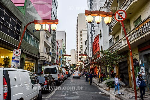 Poste com decoração oriental no bairro da Liberdade  - São Paulo - São Paulo (SP) - Brasil