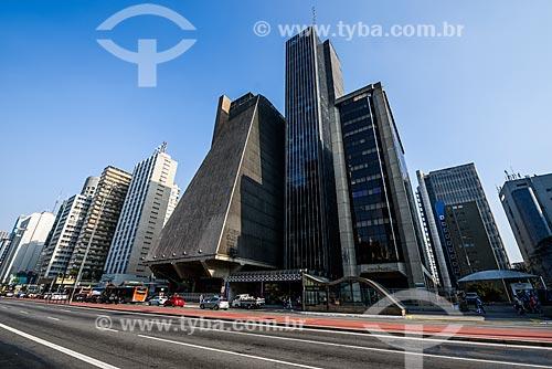 Fachada do prédio da Federação das Indústrias do Estado de São Paulo (FIESP) na Avenida Paulista  - São Paulo - São Paulo (SP) - Brasil