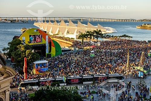 Vista da Praça Mauá durante os Jogos Olímpicos Rio 2016 - Boulevard Olímpico  - Rio de Janeiro - Rio de Janeiro (RJ) - Brasil