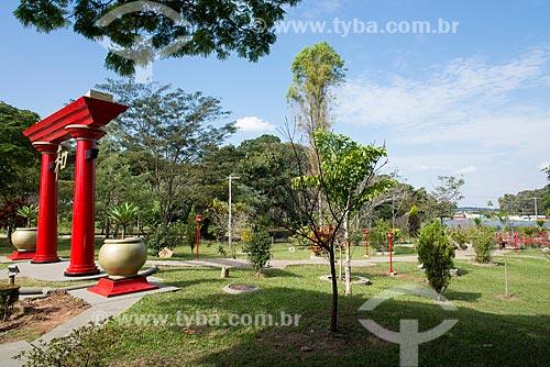 Jardim Oriental no Bosque Municipal - Portal Tori  - Garça - São Paulo (SP) - Brasil