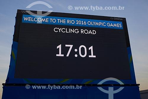 Atletas na prova de ciclismo de estrada na Avenida Vieira Souto durante os Jogos Olímpicos - Rio 2016  - Rio de Janeiro - Rio de Janeiro (RJ) - Brasil