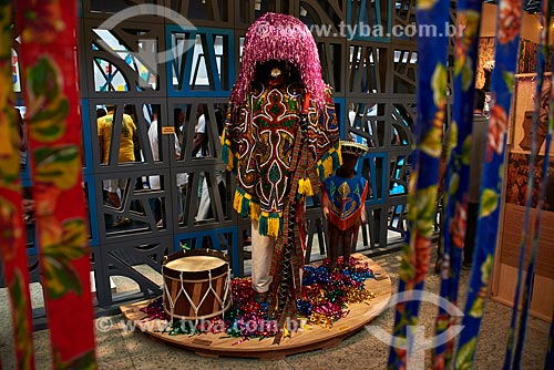 Caboclo de lança em exibição na Casa Brasil - Boulevard Olímpico  - Rio de Janeiro - Rio de Janeiro (RJ) - Brasil
