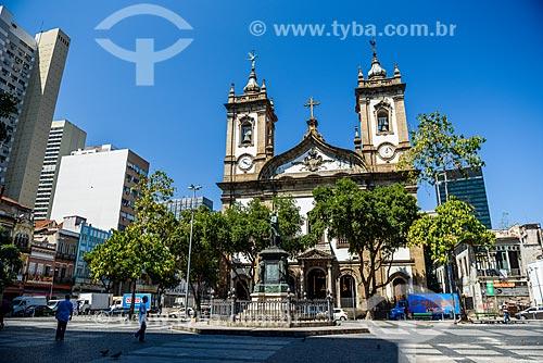 Fachada da Igreja de São Francisco de Paula (1801) no Largo de São Francisco de Paula  - Rio de Janeiro - Rio de Janeiro (RJ) - Brasil