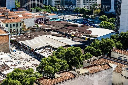 Vista de cima do Mercado Popular da Uruguaiana (1994) - mais conhecido como Camelódromo da Uruguaiana  - Rio de Janeiro - Rio de Janeiro (RJ) - Brasil