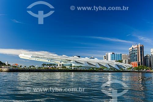 Vista do Museu do Amanhã a partir da Baía de Guanabara  - Rio de Janeiro - Rio de Janeiro (RJ) - Brasil