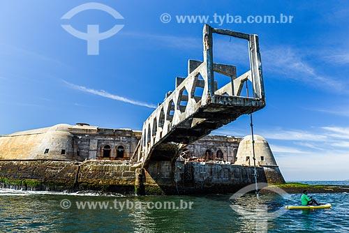 Forte Tamandaré da Laje (1555) na Baía de Guanabara  - Rio de Janeiro - Rio de Janeiro (RJ) - Brasil