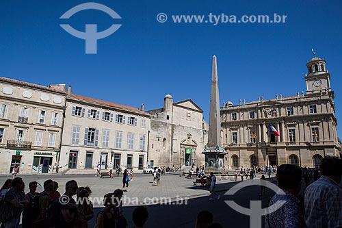 Praça da República na cidade de Arles  - Arles - Departamento de Bocas do Ródano - França