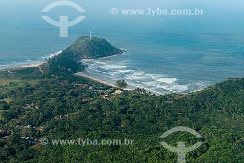Vista aérea da Praia de Fora - Ilha do Mel  - Paranaguá - Paraná (PR) - Brasil
