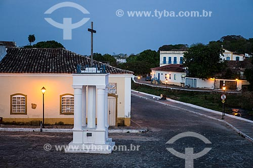 Cruz do Anhanguera - marco inicial da entrada dos Bandeirantes em território goiano - na cidade de Goiás  - Goiás - Goiás (GO) - Brasil
