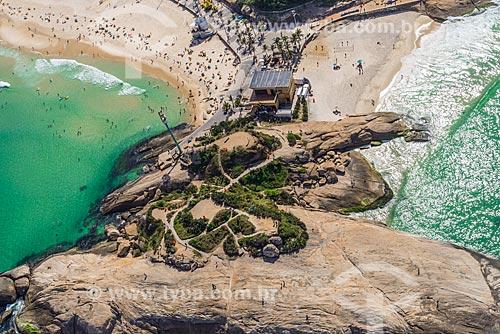 Foto aérea da Pedra do Arpoador  - Rio de Janeiro - Rio de Janeiro (RJ) - Brasil