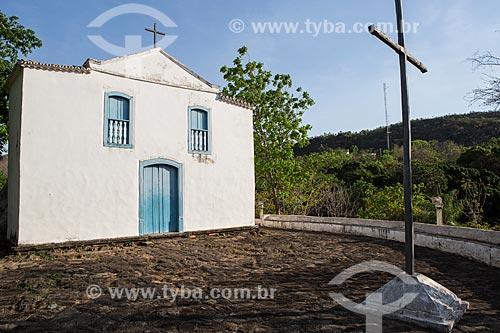 Fachada da Igreja de Santa Bárbara (1780) - também conhecida como Oureiro de Santa Bárbara  - Goiás - Goiás (GO) - Brasil