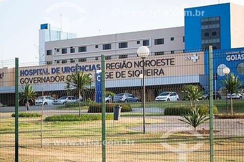 Fachada do Hospital de Urgências Governador Otávio Lage de Siqueira (HUGOL)  - Goiânia - Goiás (GO) - Brasil