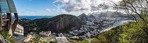 Bondinho do Pão de Açúcar com Botafogo ao fundo  - Rio de Janeiro - Rio de Janeiro (RJ) - Brasil