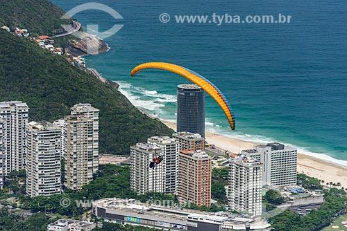 Decolagem de parapente da rampa da Pedra Bonita/Pepino  - Rio de Janeiro - Rio de Janeiro (RJ) - Brasil