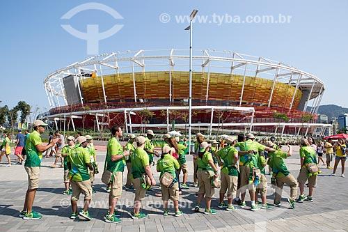 Voluntários do Projeto Incluir no Parque Olímpico Rio 2016 durante os Jogos Olímpicos - Rio 2016  - Rio de Janeiro - Rio de Janeiro (RJ) - Brasil