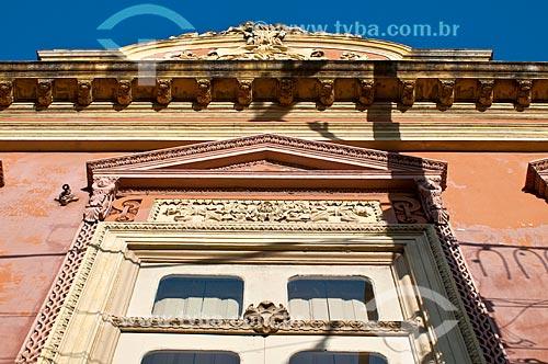 Detalhe da fachada do Museu do Doce (1878)  - Pelotas - Rio Grande do Sul (RS) - Brasil