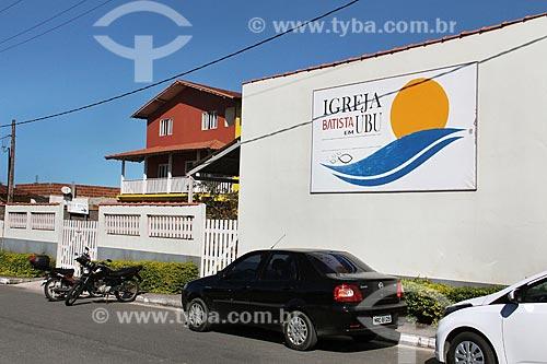 Fachada de Igreja batista em Ubu  - Anchieta - Espírito Santo (ES) - Brasil