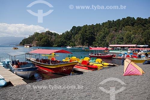 Barcos ancorados no Lago Ranco  - Lago Ranco - Província de Ranco - Chile
