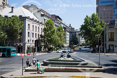 La fuente de Neptuno y Anfitrite (Fonte de Netuno e Anfitrite) na Avenida Merced  - Santiago - Província de Santiago - Chile