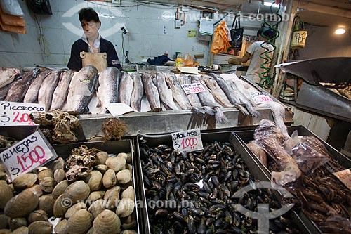 Frutos do mar à venda no Mercado Central de Santiago  - Santiago - Província de Santiago - Chile