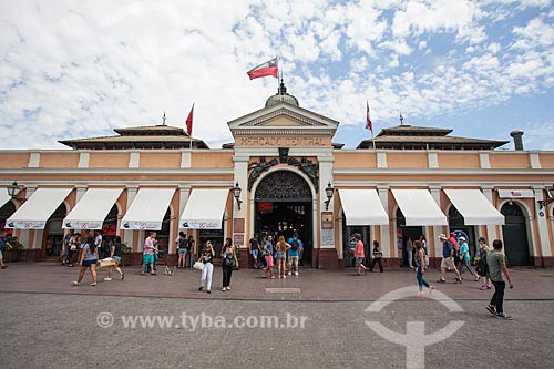 Fachada do Mercado Central de Santiago  - Santiago - Província de Santiago - Chile
