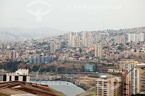 Vista geral da cidade de Valparaíso  - Valparaíso - Província de Santiago - Chile