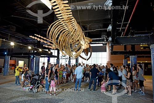 Esqueleto de baleia Jubarte (Megaptera novaeangliae) na entrada do AquaRio - aquário marinho da cidade do Rio de Janeiro  - Rio de Janeiro - Brasil
