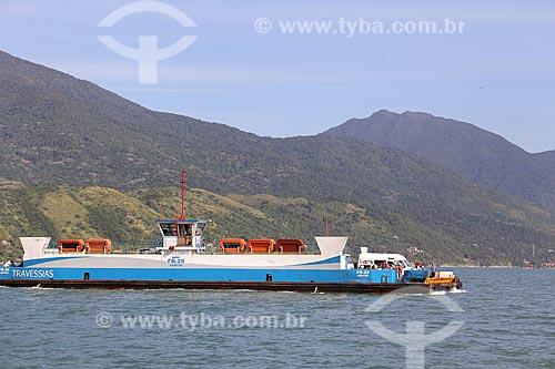 Barca utilizada na travessia entre Ilhabela e São Sebastião  - Ilhabela - São Paulo - Brasil