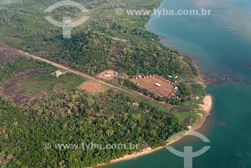 Foto aérea da Tribo Kokraimoro na Terra Indígena Mebêngôkre  - São Félix do Xingu - Pará (PA) - Brasil