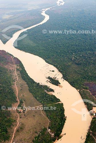 Foto aérea do Rio Fresco  - São Félix do Xingu - Pará (PA) - Brasil