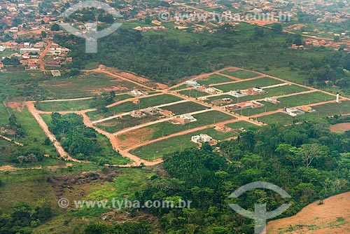 Foto aérea de loteamento na cidade de Tucumã  - Tucumã - Pará (PA) - Brasil