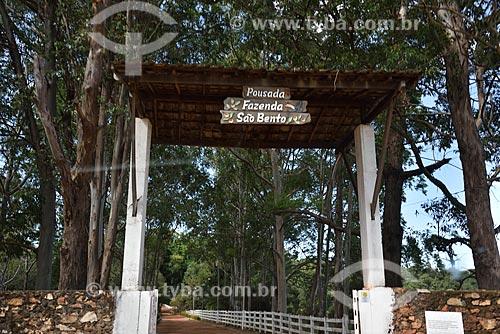 Entrada da Fazenda São Bento - Onde encontram-se as Cachoeiras São Bento, Almécegas I e Almécegas II - Parque Nacional da Chapada dos Veadeiros  - Alto Paraíso de Goiás - Goiás (GO) - Brasil