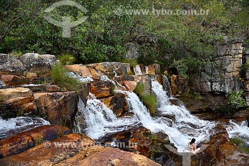 Cachoeira Almécegas II no Parque Nacional da Chapada dos Veadeiros  - Alto Paraíso de Goiás - Goiás (GO) - Brasil