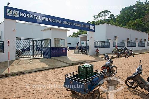 Fachada do Hospital Municipal Orzeu Jonas Guida  - São Félix do Xingu - Pará (PA) - Brasil