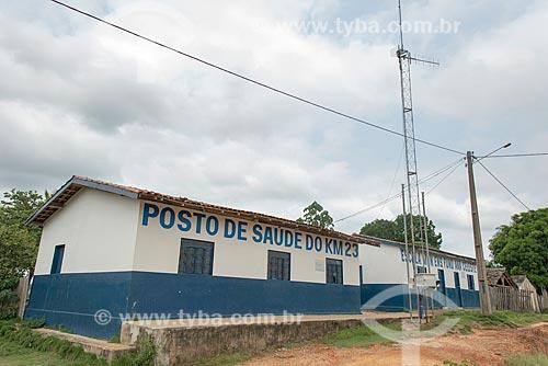 Posto de saúde e Escola Municipal de Ensino Fundamental Ana Celeste no Km 23 da Rodovia PA-273  - São Félix do Xingu - Pará (PA) - Brasil