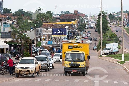 Caminhão dos Correios (Empresa Brasileira de Correios e Telégrafos) na Avenida das Nações (PA-279)  - Ourilândia do Norte - Pará (PA) - Brasil