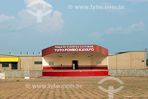 Palco da Praça de Eventos Culturais Tuto Pombo Kayapó  - Tucumã - Pará (PA) - Brasil