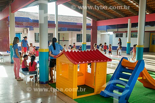 Pátio da Creche Municipal da cidade de Tucumã  - Tucumã - Pará (PA) - Brasil