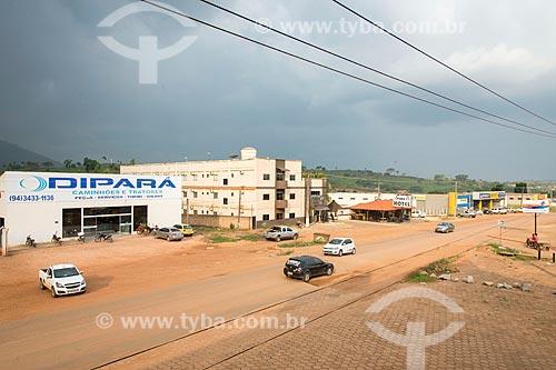 Avenida das Nações (PA-279) antes da chuva  - São Félix do Xingu - Pará (PA) - Brasil